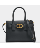 NEW Tory Burch Gemini Link Leather Tote, Black Pebbled Leather, MSRP$419... - $279.99