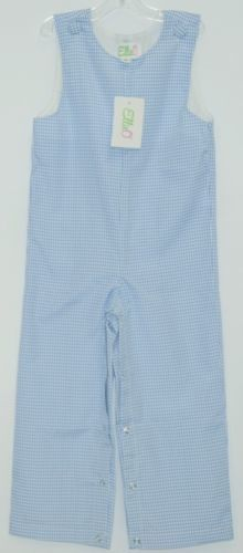 Ellie O Gingham Full Lined Longall Size 2 Color Blue Cotton Polyester Blend