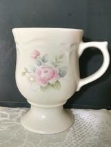 Pfaltzgraff Tea Rose Pedestal Mug Height: 4 3/4 in Width: 3 3/8 in - $8.90