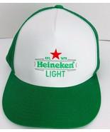 Heineken Light Green White Truckers Hat Mesh Sides Adjustable Cap  - $39.59