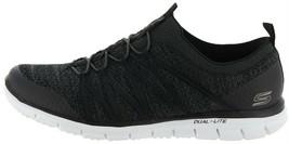 Skechers Stretch-Knit Bungee Slip-On Sneakers Glider Tuneful Black 8W NE... - $43.05 CAD