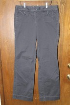 W8931 Womens ANN TAYLOR LOFT Marisa Gray Stretch BOOT CUT PANTS Slacks 6 - $14.50