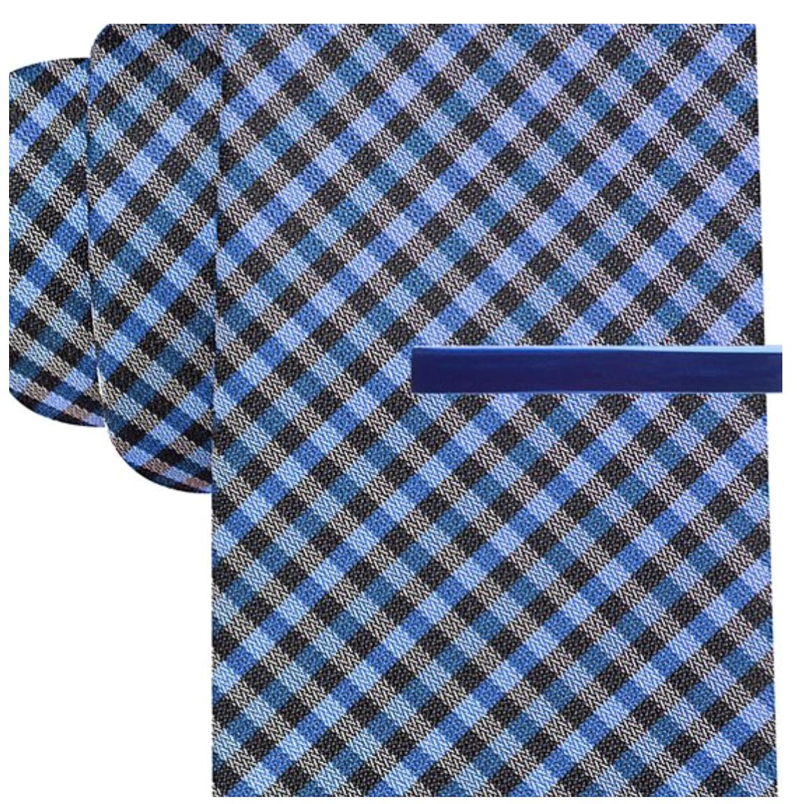 Alfani Spectrum Silk Tortola Grid Woven Necktie, Orange MSRP $49.50