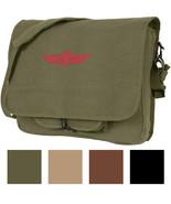 Canvas Israeli Military Paratrooper Emblem Shoulder Messenger Bag - $21.99