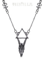 Restyle Gazelle Skull Silver Necklace Arsenic Triangle Wiccan Occult Jew... - $22.99