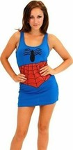 Authentic Spiderman Marvel Comics Costume Woman Juniors Cosplay Tank Dre... - $25.99