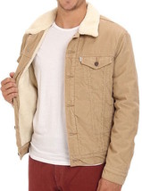 Levi's Men's Classic Corduroy Sherpa Trucker Button Up Jacket 723360004