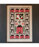2011 Comin To Town Santa Limited Edition cross stitch chart Prairie Scho... - $6.00