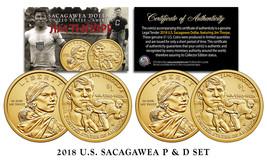 2018 US MINT Native American JIM THORPE $1 Dollar Sacagawea 2-Coin Set B... - $8.86