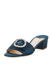 Jimmy Choo Granger Satin Slide Sandals 37.5 - $415.80