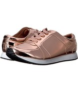 N.Y.L.A. Women's Mirage Rose Gold Mirror Lace Up Fashion Sneaker 9 Med (... - $34.64