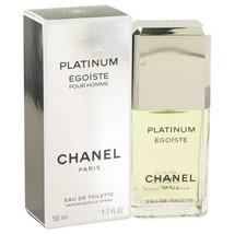 Chanel Egoiste Platinum Pour Homme Cologne 1.7 Oz Eau De Toilette Spray image 3