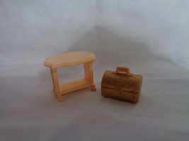 Playmobil Princess Castle Replacement Tan Accent Table & Small Chest image 1