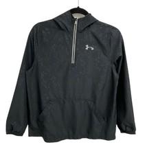 Under Armour UA Storm youth boys hoodie light pullover black half zip sz... - $17.81