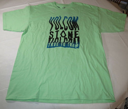 Homme Volcom T-Shirt Manches Courtes Surf Skate XL Vert Menthe Océan Motion S/S - $19.77