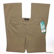 Riders by Lee Heavenly Touch Slimming Stretch Pants 10P Khaki Mid Rise B... - $21.77