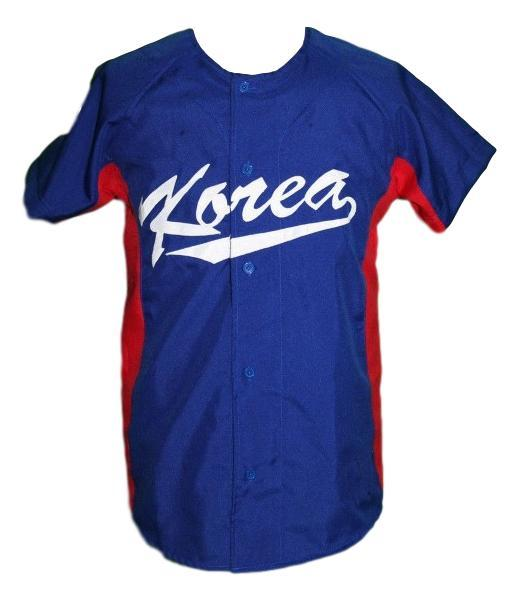 Shin soo choo south korea baseball jersey button down blue   1