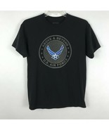 Gildan Mens Shirt Size M Medium US Air Force Black Tee Shirt Dry Blend Top - $13.07