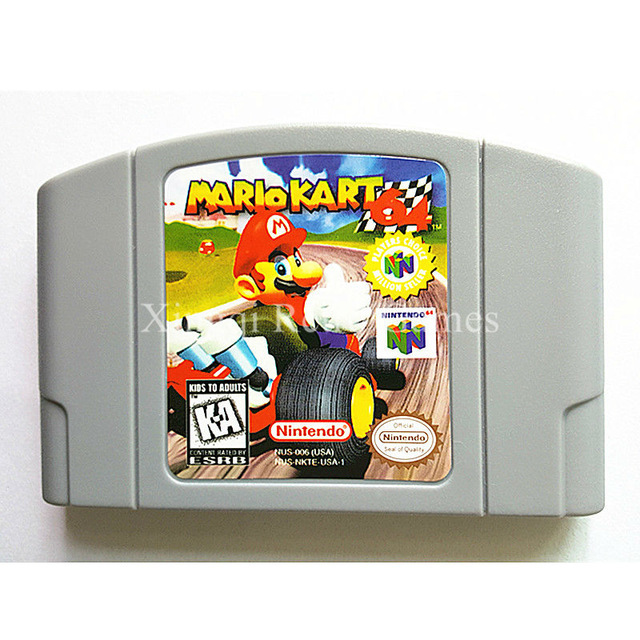 Game Mario Kart 64 - Nintendo N64 (Console Card English Language)