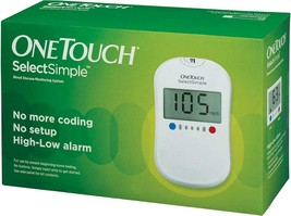 OneTouch Select Simple Glucometer with Box of 10 Test Strips Free Best Q... - $31.88