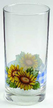 Sunsations (Corelle) by Corning Sunflower Design Large 16 oz Glassware T... - $14.99