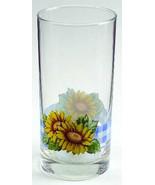 Sunsations (Corelle) by Corning Sunflower Design Large 16 oz Glassware T... - $15.99