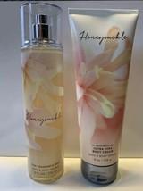 Bath & Body Works Honeysuckle Body Cream & Fragrance Mist Spray Full Sz ... - $22.76