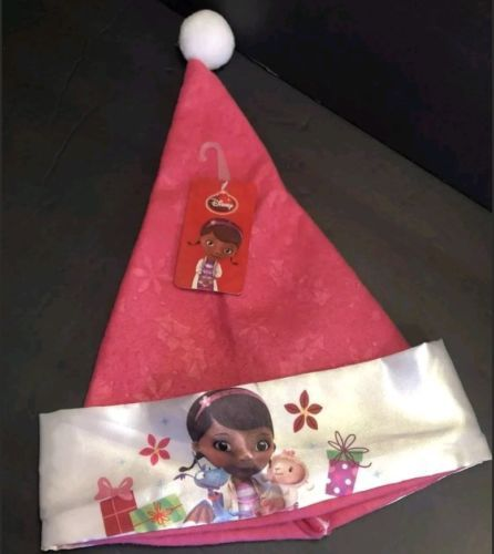 Primary image for Disney Junior Doc Mcstuffins Holiday Santa Hat - Pink - NWT