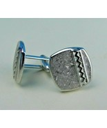 Vintage Swank Cuff Links Silver Tone Classic Look Classy - $12.86