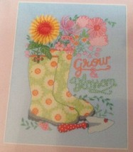 """Zweigart Artiste GROW AND BLOSSOM 8.125"""" x 10.625 Counted Cross Stitch Kit - NEW - $14.52"""