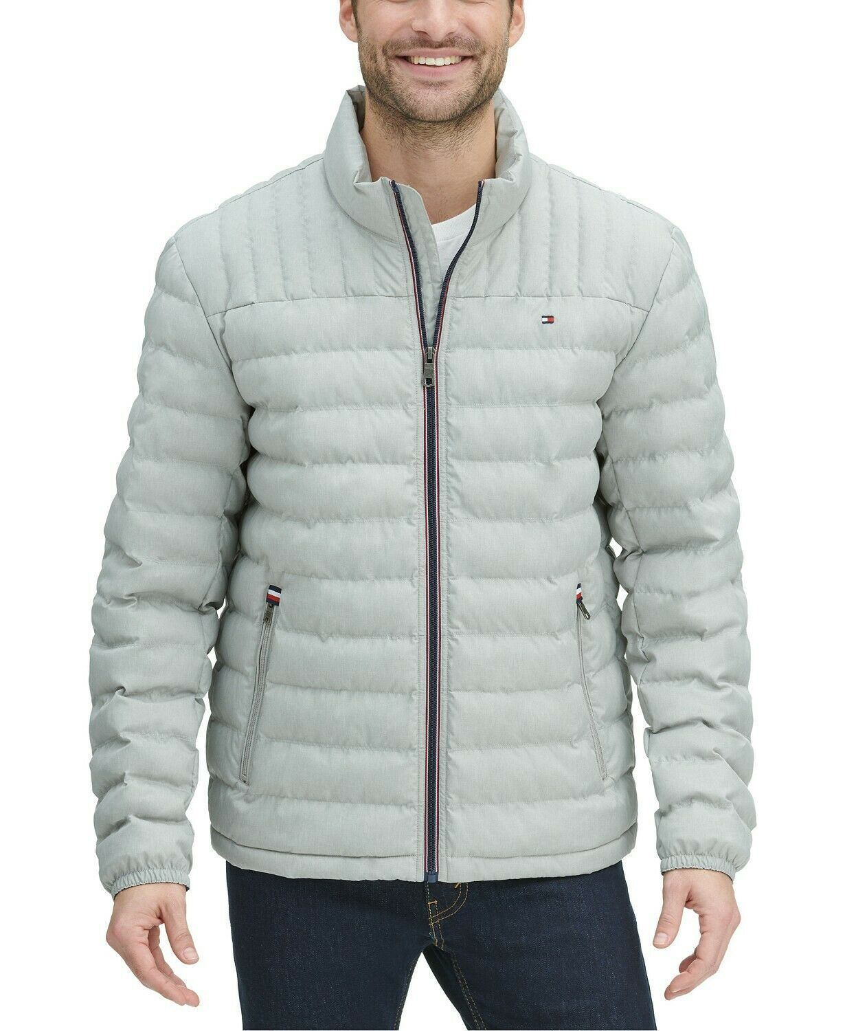 Tommy Hilfiger Men's Ultra Loft Packable Puffer Jacket Heather Grey