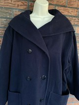 Vintage 100% Wool Coat Size 16 Hooded Jacket Mackintosh Collections Made... - $49.00