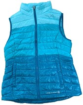 Free Country Girl's Ultra Lightweight Power Down Quilted Vest Teal Bermuda - $28.99