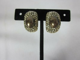 Heidi Daus Captivating Cabochon Clip-On Earrings Brown (Orig.$89.95) - $54.44