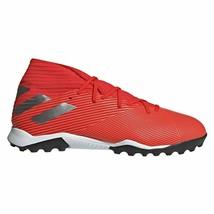 ADIDAS Men's NEMEZIZ 19.3 TF TURF Soccer Shoes Active Red/Silver F34427 - $49.97