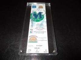 1/2 Pound Slabbed Paperweight Dallas Mavericks LA Clippers Full Ticket 1... - $37.18