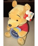 Winnie the Pooh Photo Frame / Plush / Disney Store / Pooh Holding Honey ... - $19.79