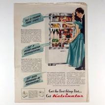 1947 Kelvinator Moist Master Refrigerator Freezer Photo Print Magazine Ad - $12.79