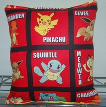Pokemon Pillow HANDMADE Cotton/Flannel Toddler ,Travel , Daycare NEW  Po... - $9.99