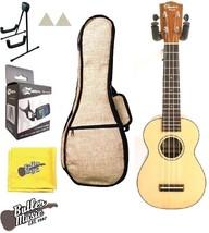 Ohana SK-16C Soprano Spruce Top Birch B&S Acoustic Ukulele w/hemp Gig ba... - $119.00