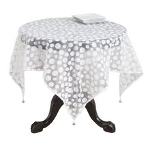 Fennco Styles Flocked Dot Design Organza Table Topper - One Piece - 10 C... - $19.75