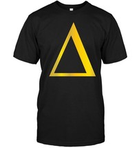 Gold Delta T Shirt 4th letter Alphabet Triangle Symbol Maths - $17.99