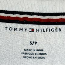 Tommy Hilfiger R26S173  Logo Long Sleeve Cropped White Pullover Sweatshirt S image 3