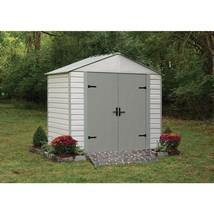 Storage Shed Vinyl Coated Steel 5 x 8 Lockable Double Door Outdoor Garde... - $626.36