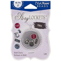 Blue Moon Beads Story Lockets Metal Charm, Police, Assortment, 5-Pack - $7.67