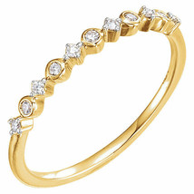 Diamond Stackable Ring In 14K Yellow Gold (1/10 ct. tw.) - $549.99