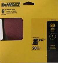 """Dewalt DWAS60080 6"""" Sanding Discs 80 Grit 20 Pack - $3.22"""