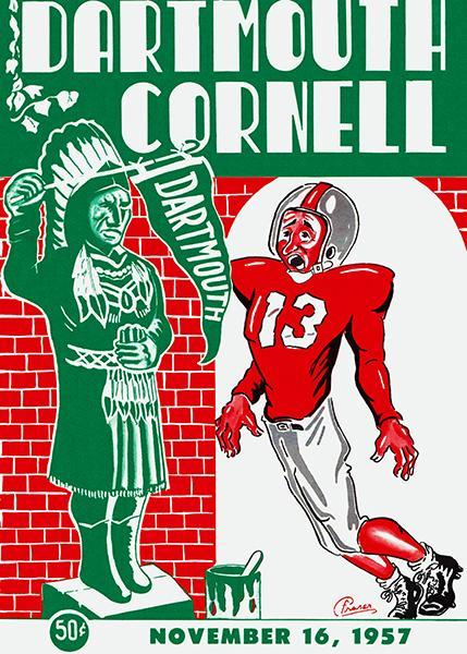 Primary image for 1957 Dartmouth vs Cornell Football Game - Program Cover Poster