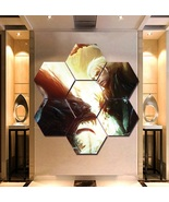 The Witcher Wall Art Painting Canvas Poster Decor Hexagon 7 Panels Framed. - $94.99+