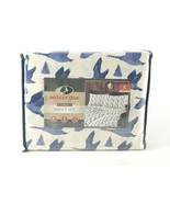 Mossy Oak King Bed 4 Pc Sheet Set White Blue Ducks Tree Hunting Lodge Ca... - $48.49
